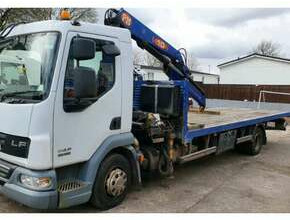 2007 DAF LF45 180 Truck with Crane 12 Ton Gross with Hiab