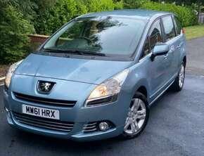 2012 Peugeot, 5008, MPV, Manual